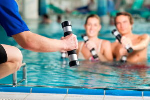 Where can I learn effective water aerobics exercises in San Diego
